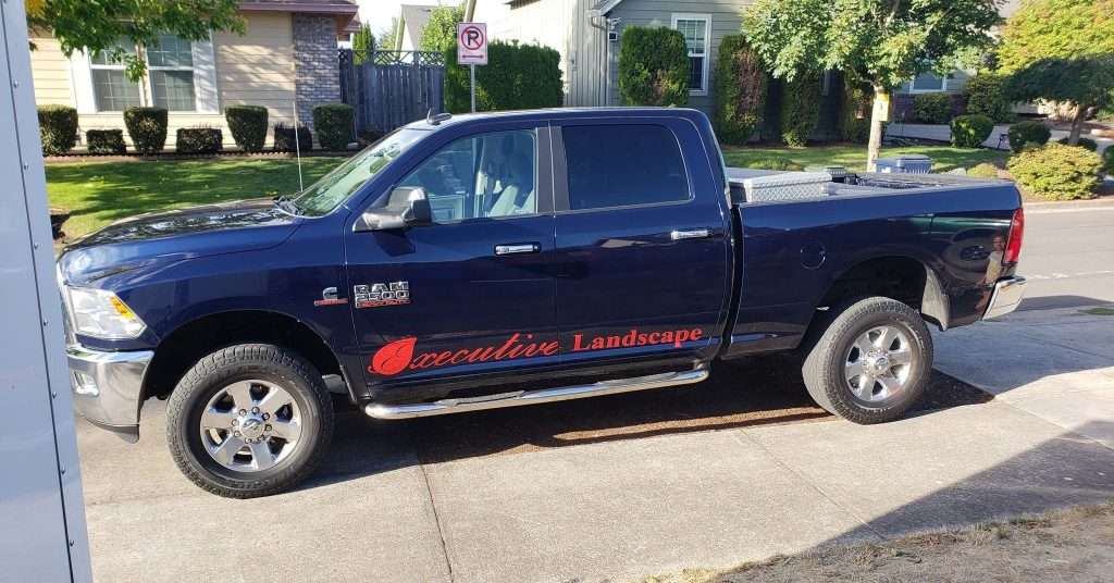Executive Landscape & Maintenance Comapny Truck